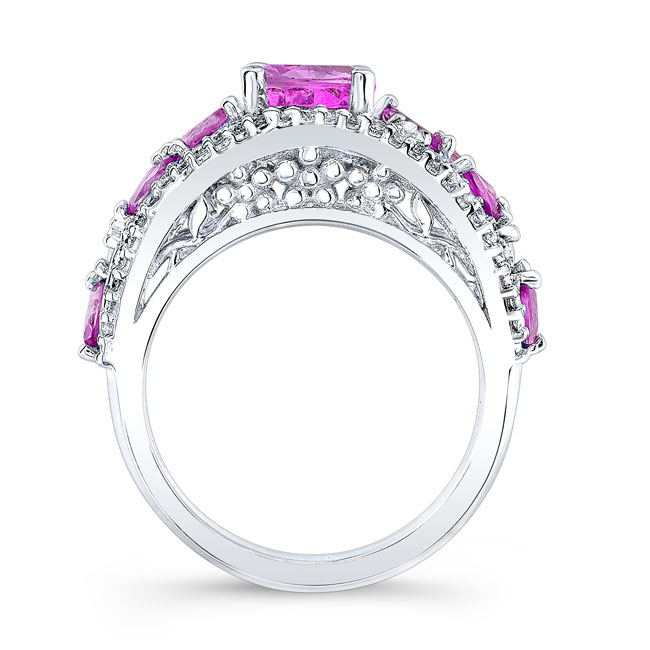 Pink Sapphire Engagement Ring PSC-7984LPS Image 2