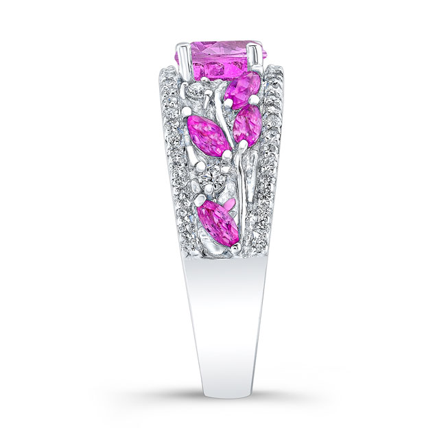Pink Sapphire Engagement Ring PSC-7984LPS Image 3