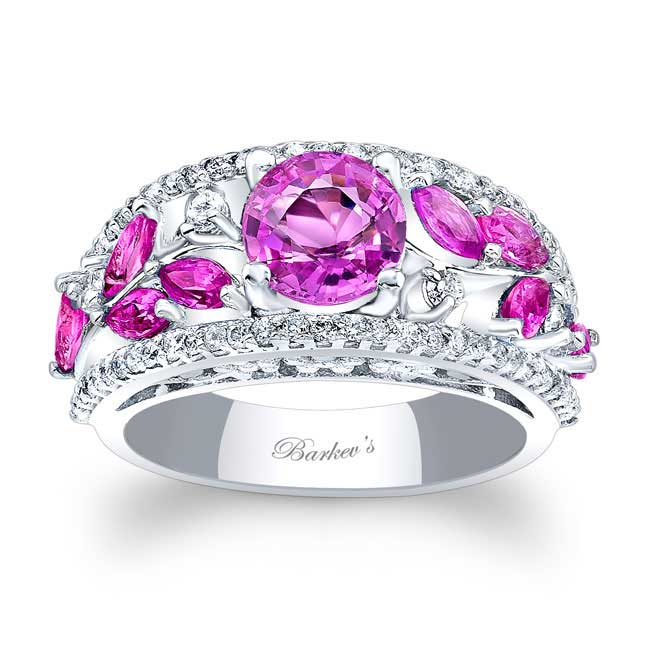 Pink Sapphire Engagement Ring PSC-7984LPS Image 1