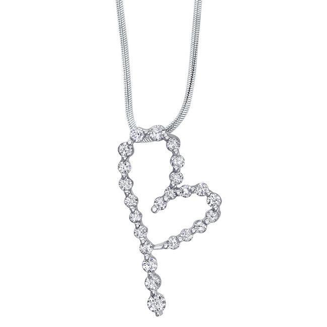 White Gold Diamond Necklace 7350N Image 1
