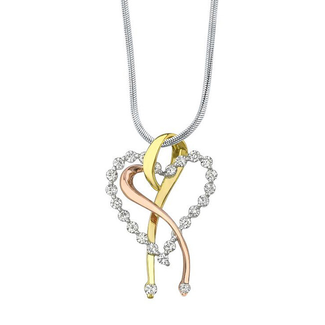 Diamond Heart Necklace 7363N Image 1