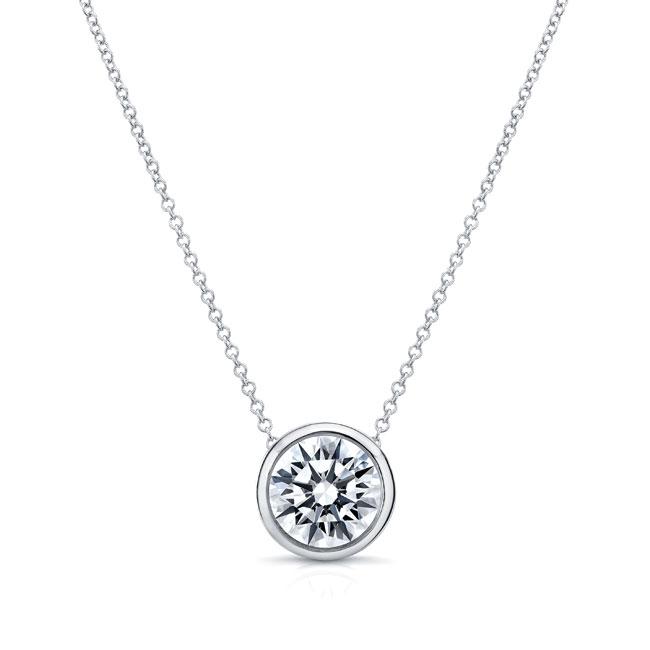 Moissanite White Gold Necklace MOI-8150N