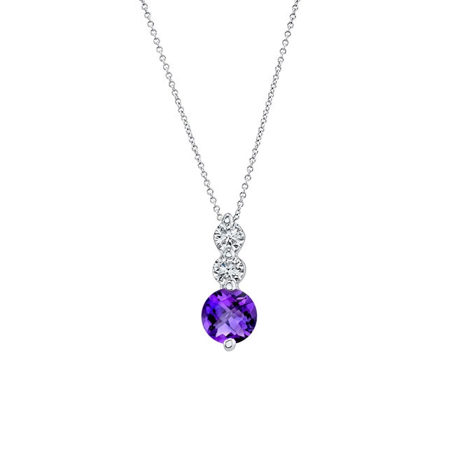 Amethyst & Diamond Necklace AM-5593N Image 1