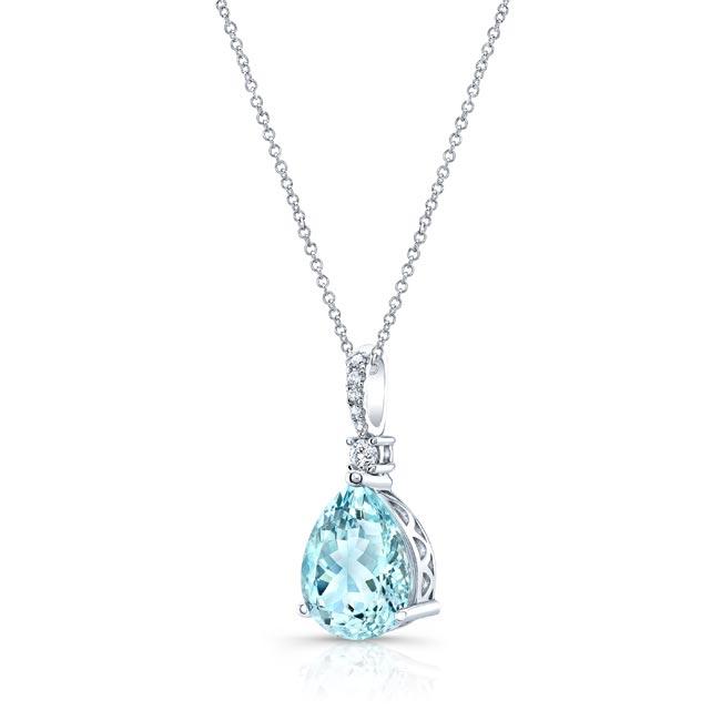 Aquamarine and Diamond Necklace AQ-8172N Image 2
