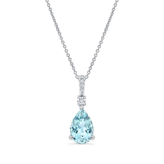 Aquamarine and Diamond Necklace AQ-8172N Image 1