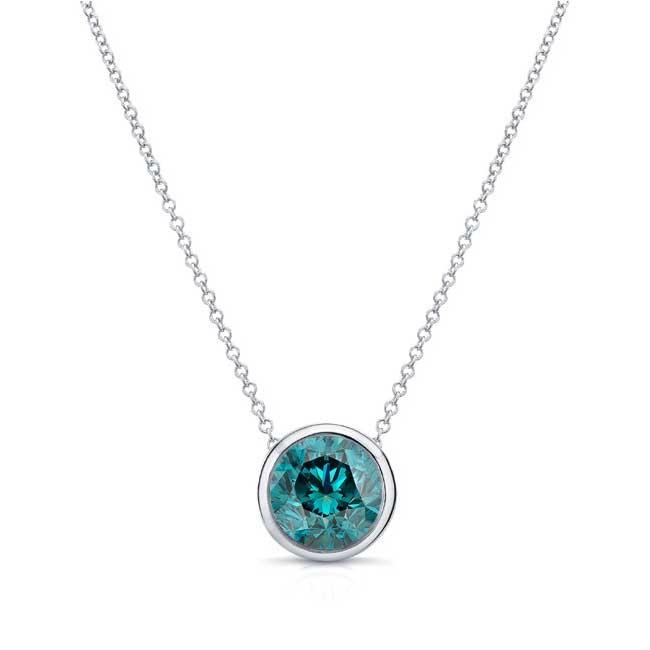 Blue Diamond White Gold Necklace BD-8150N Image 1
