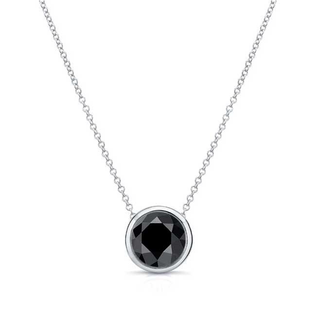 Black Diamond White Gold Necklace BK-8150N