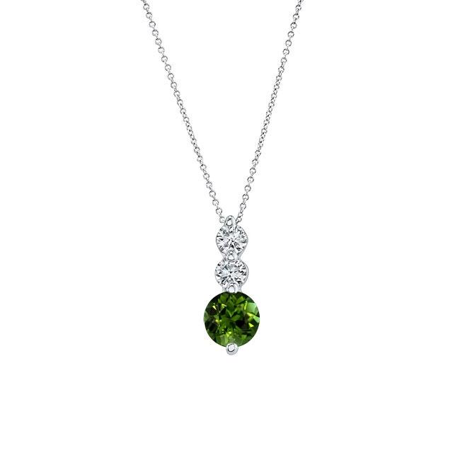 Green Tourmaline & Diamond Necklace GT-5593N Image 1