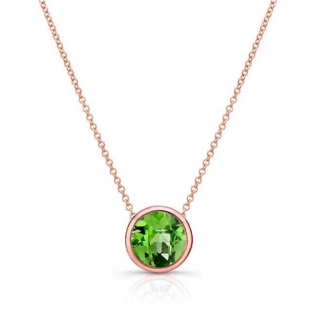 Peridot White Gold Necklace PD-8150N Image 1