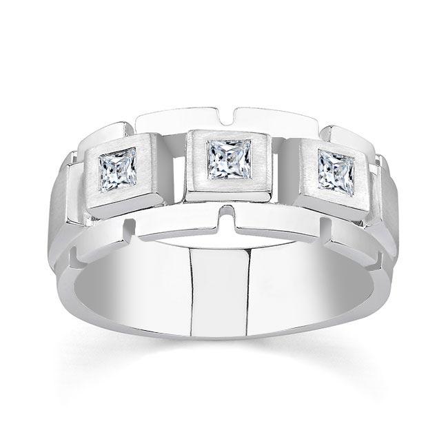 Princess Cut Diamond Wedding Band 6943G Image 1