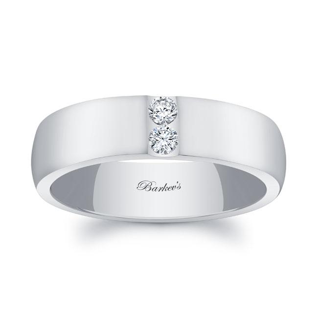 Diamond Wedding Band 8105G_6MM