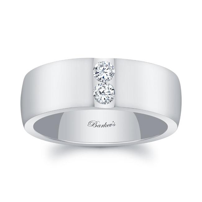 Diamond Wedding Band 8105G_8MM