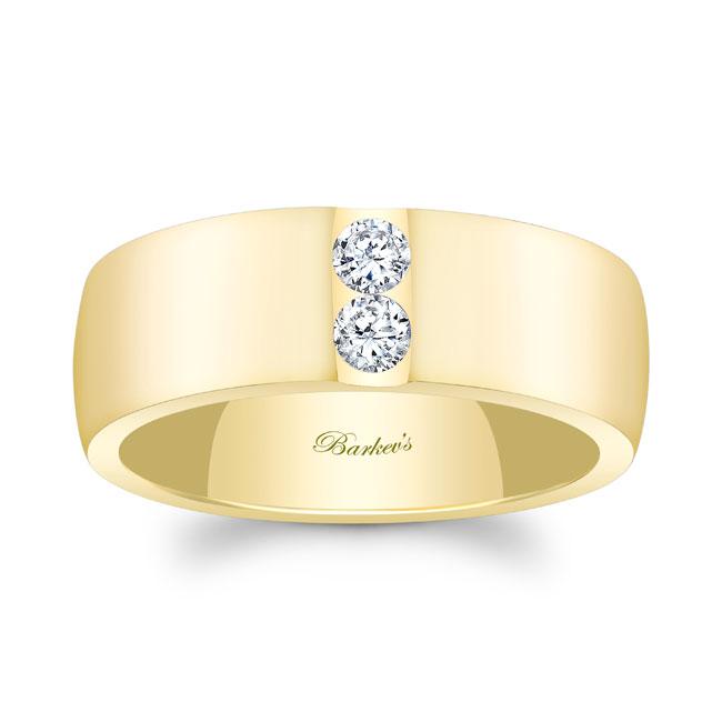 Diamond Wedding Band 8105G_8MM Image 1