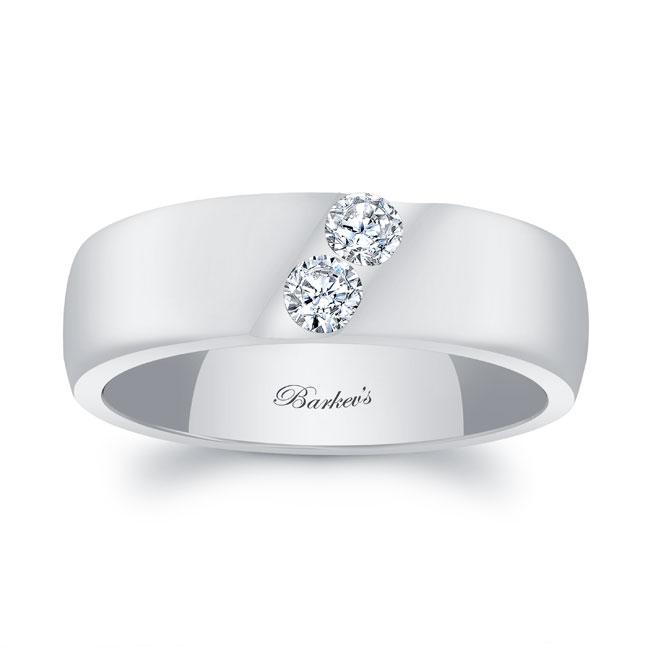 Gold Diamond Wedding Band 8106G_7MM