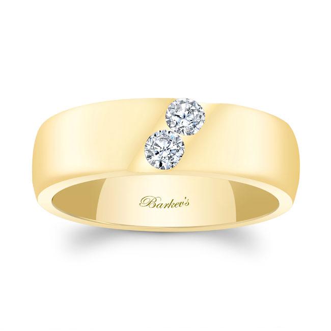 Gold Diamond Wedding Band 8106G_7MM Image 1