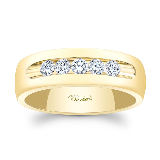Diamond Wedding Band 8111G_7MM Image 1