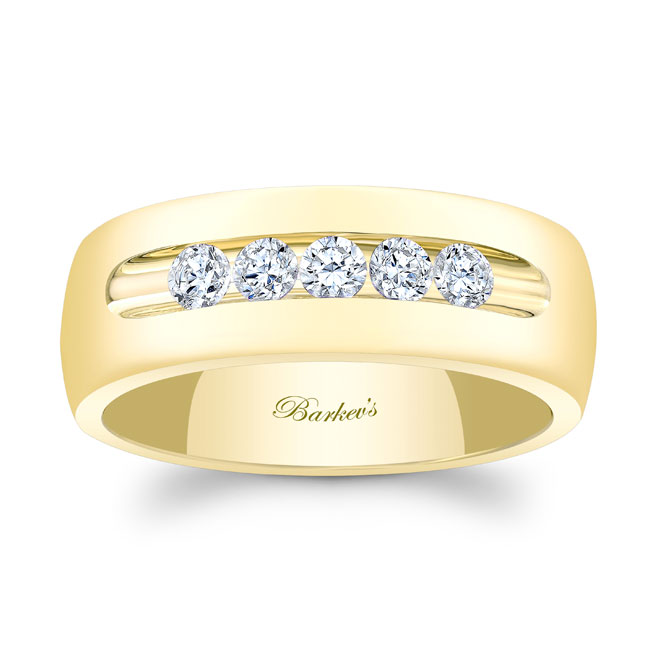 Diamond Wedding Band 8111G_8MM Image 1