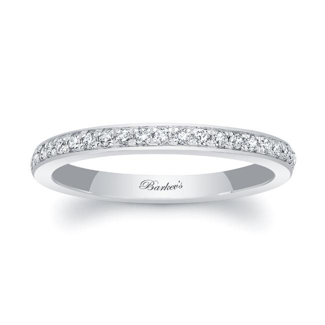 Domed Diamond Wedding Band 8122W_2MM Image 1