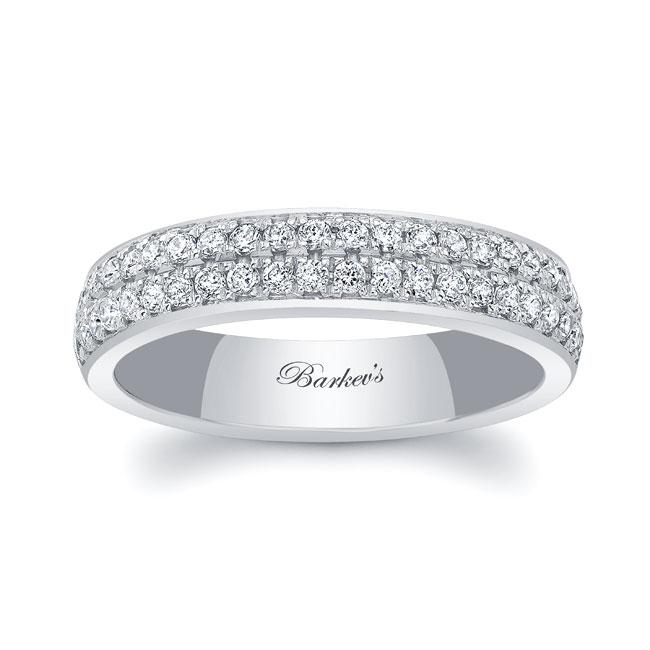 Domed Diamond Wedding Band 8124W_4MM Image 1