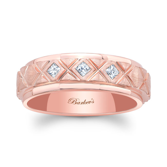Princess Cut Diamond Wedding Band 8138G Image 1