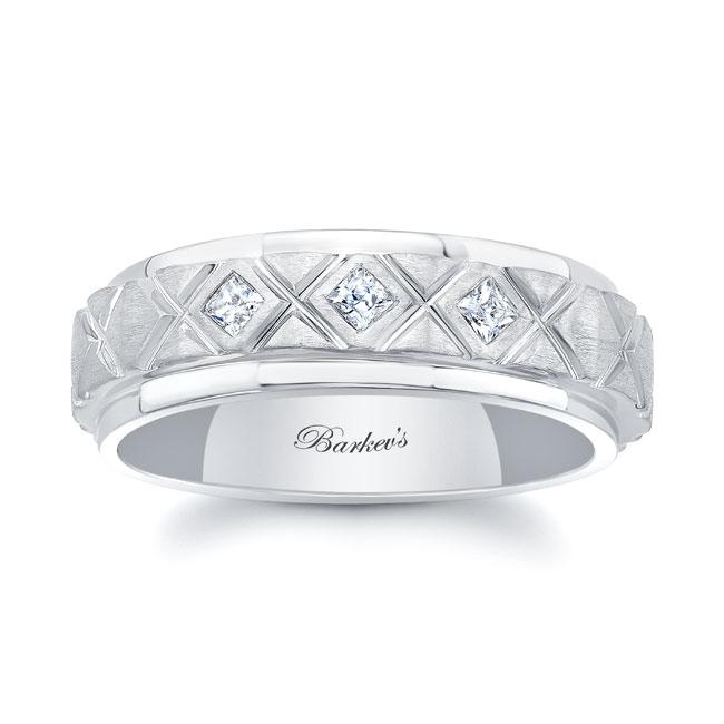 Princess Cut Diamond Wedding Band 8138G
