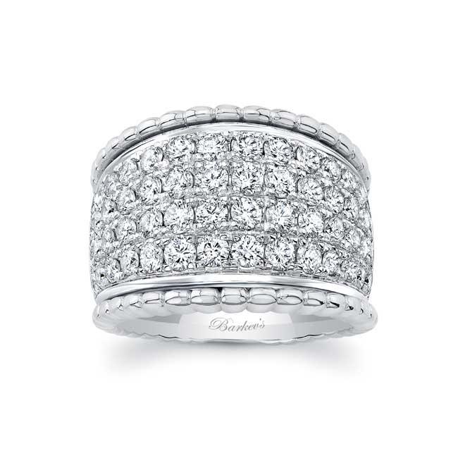 Four Row Diamond Wedding Band 8203W Image 1